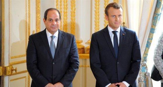 Sisi ile Macron Suriye'yi görüştü