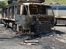 PKK Karayollar�n�n �� Makinelerini Yakt�