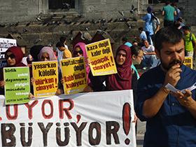 ���i Cinayetleri Emin�n�'nde Protesto Edildi